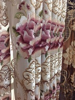 Ready-made curtains Fashion embroidered curtain luxury modern chinese style quality finished product shalian curtain fabric