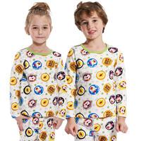 Kids Girls Boys Long Sleeve Sleep Wear Pajamas 100% Cotton 2-12 Y Children Sleepwear Fall New Arrival
