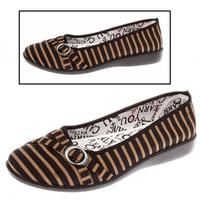 Cotton-made beijing shoes women's shoes single shoes stripe single shoes four seasons low light Women light comfortable casual