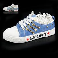 Women canvas shoes fashion canvas shoes lace Women women's the trend of shoes low single shoes sports