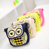 Sweet gentlewomen 2014 color block women's handbag cartoon owl bag messenger bag