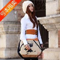 Carton rouge messenger bag casual bag fashion single shoulder bag national trend cloth national bags handmade painting