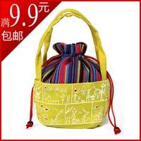 Female coin purse national trend cute little bag dongba mobile phone bag handmade printed cloth bag