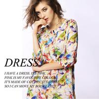 2014 fashion elegant fashion dot peacock print one-piece dress a202