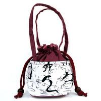 Female coin purse national trend cute little bag female shopping mobile phone bag handmade printed cloth bag  Drop shipping