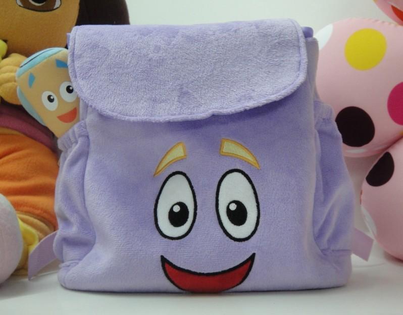 Novo 2013 Dora brinquedo de pelúcia dora mochila com mapa criança crianças mochila escolar barato saco frete grátis(China (Mainland))