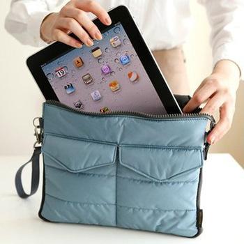 Protective iPad Handbag Multifunction Soft Bag In Bag Portable Travel Storage Gadget ...