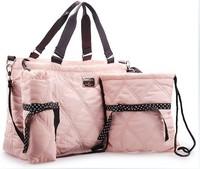 Meepoo quilting nappy changing wet bag baby diaper bags bolsa de bebe multifunctional piece set small bag parent-child bag
