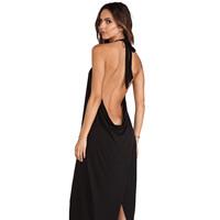 XS - XXL Cross Racerback Women Dress Trumpet Mermaid Black Halter-neck Knitted One-piece Dress 2014 Spring Summer New Fashion