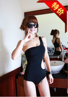 One-piece swimsuit hot spring small push up sexy fork swimwear