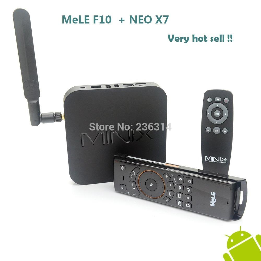 MeLE F10 Air Mouse + MINIX NEO X7 Android 4.2.2 Quad Core TV Box 1.6GHz 2G/16G WiFi HDMI USB RJ45 OTG XBMC free shipping(China (Mainland))