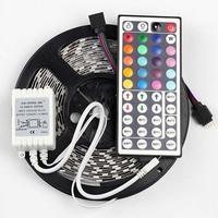 5050 RGB LED Strip Non waterproof 5M 300 LED Tape Luminaria Luz 12V Car Home Ribbon+44 Key RGB Controller Free Shipping 1Set