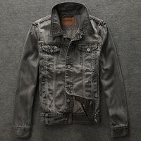 2014 men's clothing men's jeans jackets man denim jacket for men 100% cotton outerwear jean