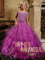 Female child formal dress princess flower girl dress formal dress child wedding dress female performance design child long