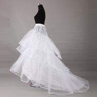 Urged bride wedding formal dress skirt pannier slip gauze train pannier 003