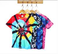 2014 Skate America Harajuku street tide floral retro casual SUPREME colorful tie-dye T-shirt Mastermind Japan MMJ