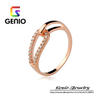 GN R413 18K Gold Plated female Austrian crystal CZ ring fashion jewelry free shipping!2colors!