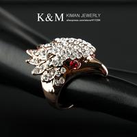 New Design 18K Gold plated Full CZ Diamonds Eagle Rings for Women RI-00282