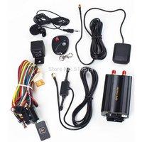 TK103B Car GPS tracker Remote Control Iphone Tracking 4band Car Alarm GPS Crawler Portuguese PC GPS tracking system Google map