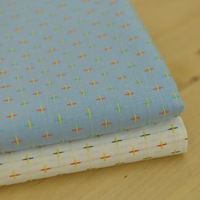 Yarn dyed tianlan cross white 100% cotton cloth baby clothes shirt handmade diy full cotton fabric