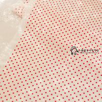Polka dot white red dot polka dot polka dot 100% cotton cloth handmade clothes fabric