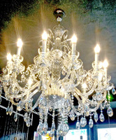 Free Shipping 2014 Hot seller  Champagne Color K9 Crystal Candle Lights Chandelier  for Luxury House Villa  (DT_5385-18Arms)