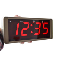Large screen digital calendar wall clock modern led electronic mute alarm clock talking wall clock