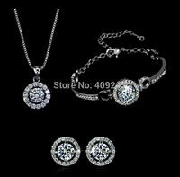 free shipping fashion bridal jewelry sets,gold plated jewelry set,TZ-2238