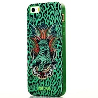 Brand Case for iPhone 5 5s 5 Colors Soft TPU Perfect Fit Case with Leopard Print without Retail Package