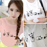2014 women's white summer slim all-match basic o-neck shirt short-sleeve t-shirt female