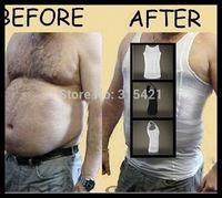 1Pcs Men Body Shaper Vest Mens Slim ift Body Shaping Undergarment Elimination of Male Beer Belly X12