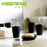 Four piece set fashion bathroom plastic bathroom set bathroom toiletries toothbrush holder cups
