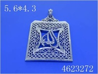 New arrival !Fashion Charm platinum white gold plated Allah crystal pendant , crystal square jewelry 4623272