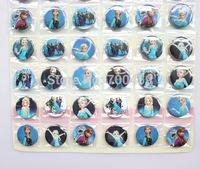 Wholesale - 10 sheets 480 pcs Frozen Badge Button Pin 3CM party favor  Free Shipping