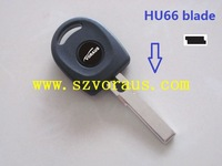V w  transponder key shell with HU66 blade  , car remote key shell, car flip key shell