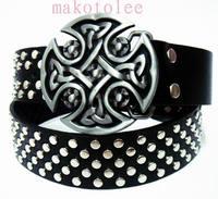 Casual skull rivet punk cross strap fashion belt personality male sb's belt rivet