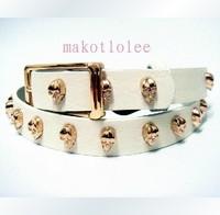 Punk punk strap skull personality casual rivet gold belt hot-selling