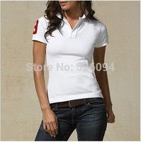 2014 brand new Multi-pony Women Polo  t-shrits 6colors short sleeve shirts free shipping