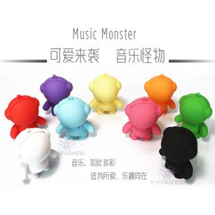 MUSIC MONSTER JH-MD07U USB speaker TF Card Sound Box+FM radio+Card reader+100% original+MD07 upgraded mini speaker Freeshipping(China (Mainland))