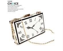 Antique vintage clip package fashionable casual clock pocket watch one shoulder cross-body women's handbag bag(China (Mainland))