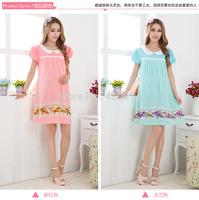 Summer Dress 2014 Fashion Winter Autumn Spring Flower Lady Maternity Dress,Plus Size Short Vestidos Pregnant Top Clothes 80009