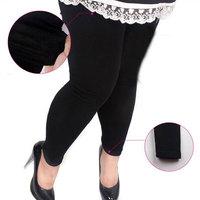 New Arrival! Fashion Fat Ladies Women's Girls Cotton Leggings black Colors Large Size Leggings, Free & Drop Shipping