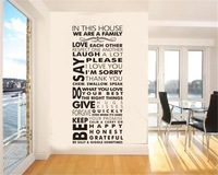we are family home decoration creative quote wall decal ZooYoo8085  home decoration removable DIY vinyl wall stickers