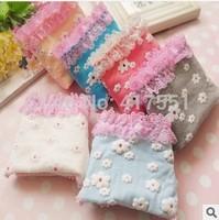 free shipping,2014 new Panties,cute girls Panties,100% cotton Little Daisy flower lace briefs,underwear women