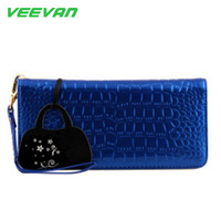 Women wallets genuine leather wallet women purse female clutch purses credit card holder long  for Mum's GIFT