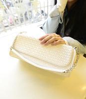 2014 new beautiful fashion handbags PU leather pouches chain of Korean wild small bag handbag women handbag
