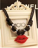 New Arrival Fashion Necklace Jewelry Hot Wholesale Female coarse clavicular chain retro short lips Necklace