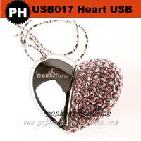 Premium wedding gift usb pen drive heart shaped usb flash
