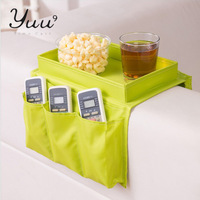 YUU Recommand Top.1 Seller Free Shipping Tray type 6 Pocket Sofa, Couch, Arm Rest Organizer+Remote Control Holder Storage Bag
