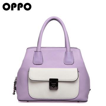Hong Kong OPPO brand bags 2014 new European and American fashion hit color handbag handbag diagonal package 9909(China (Mainland))
